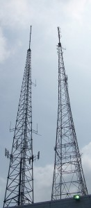 FM, TV, and Telecom Antenna Tower Mast