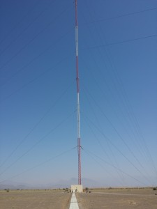 853' AM/MW Base Insulated Guyed Tower 500kW Sultanate of Oman